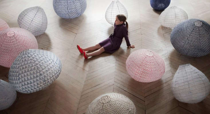 Japanese fabric lanterns via lost and found Remodelista 0
