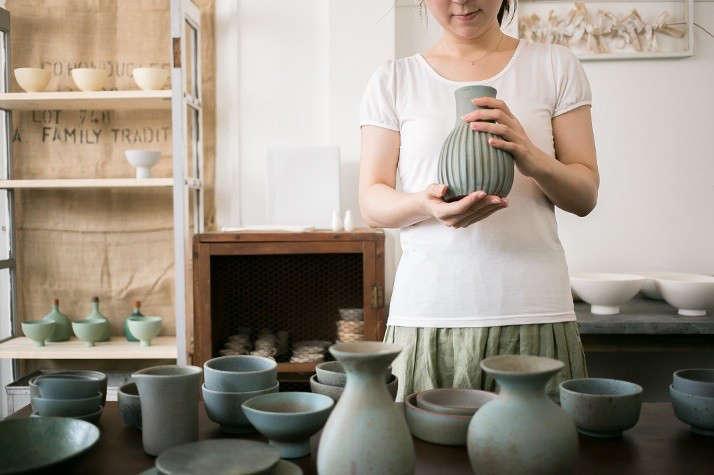 Japanese matcha party green ceramics