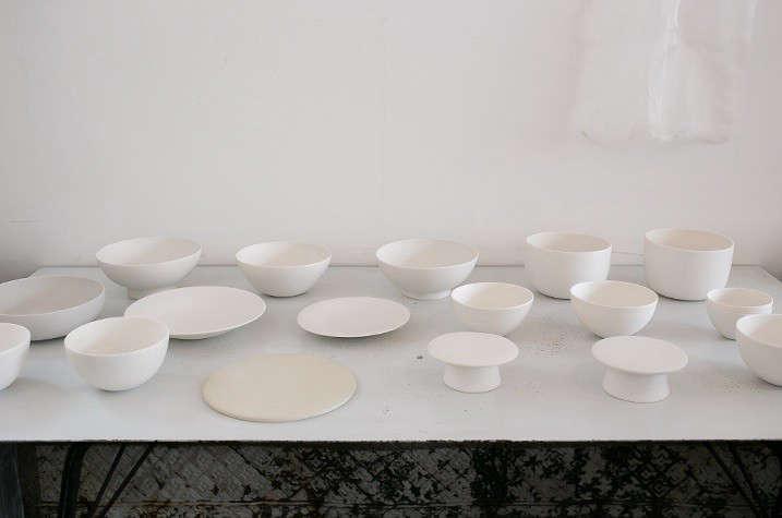Japanese matcha party white ceramics