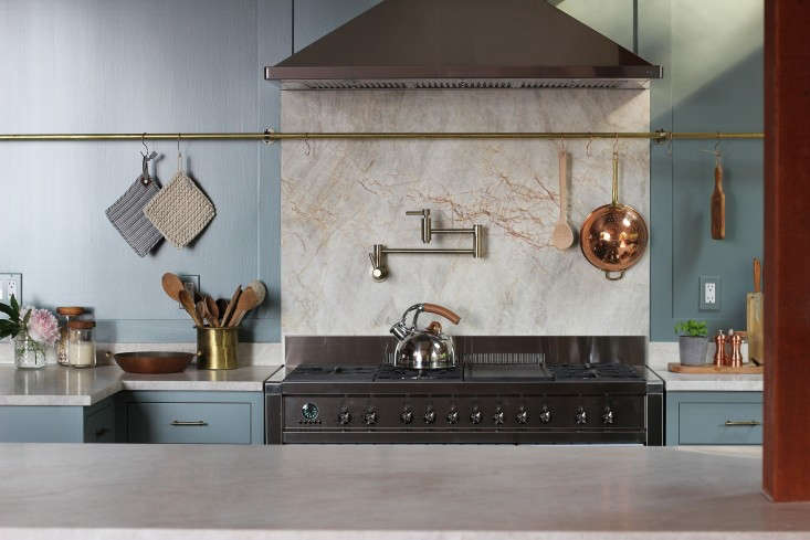 another kitchen designed by jersey ice cream co. with an even longer brass rail 13