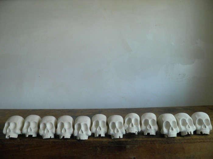 The Seventh Seal Sculptural Wooden Skulls by Joshua Vogel portrait 3
