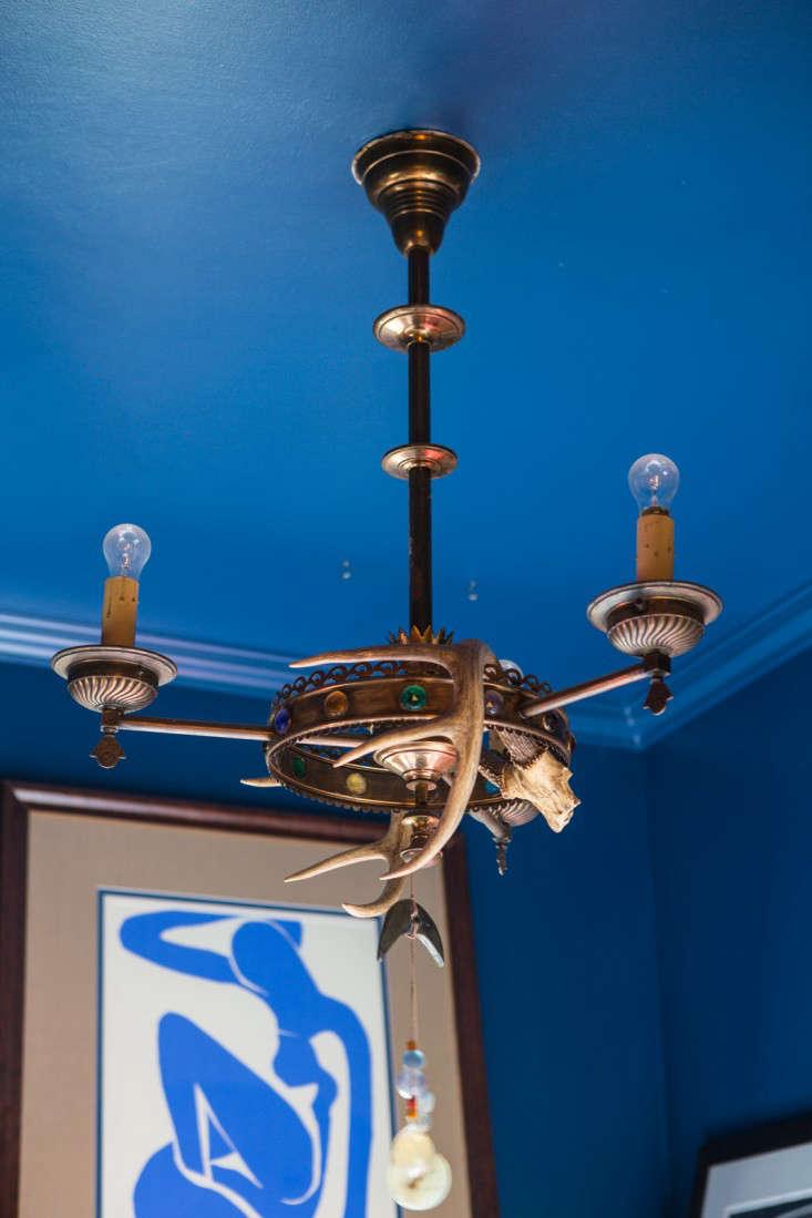 Kelly lamb studio blue ceiling detail