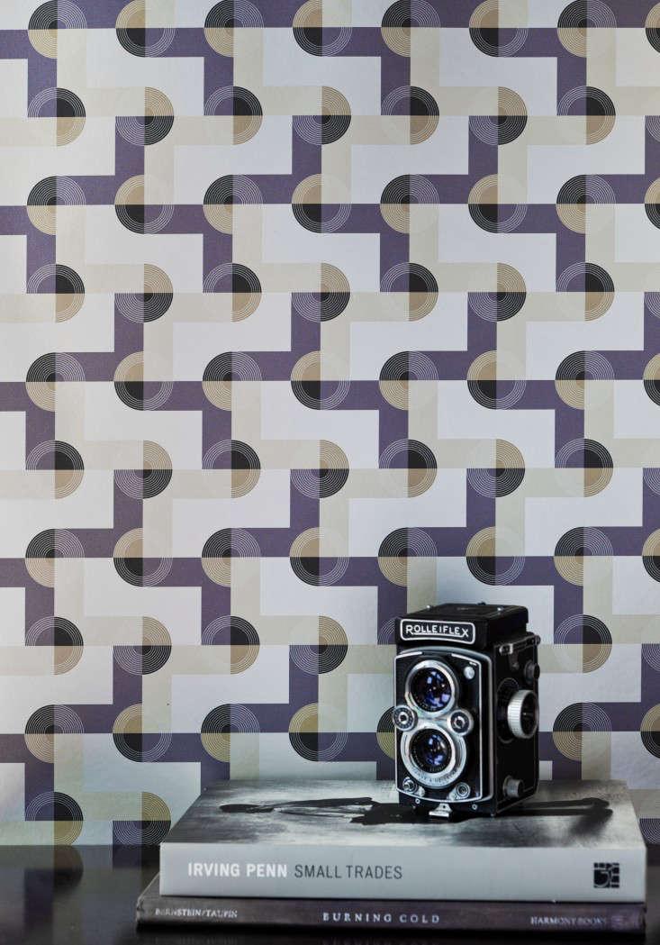 Kismet Tile wallpaper Oskar Remodeista