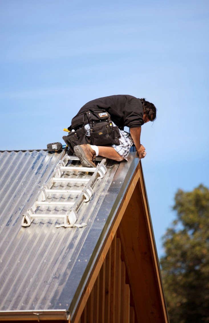 Landers Curry metal roof construction Remodelista