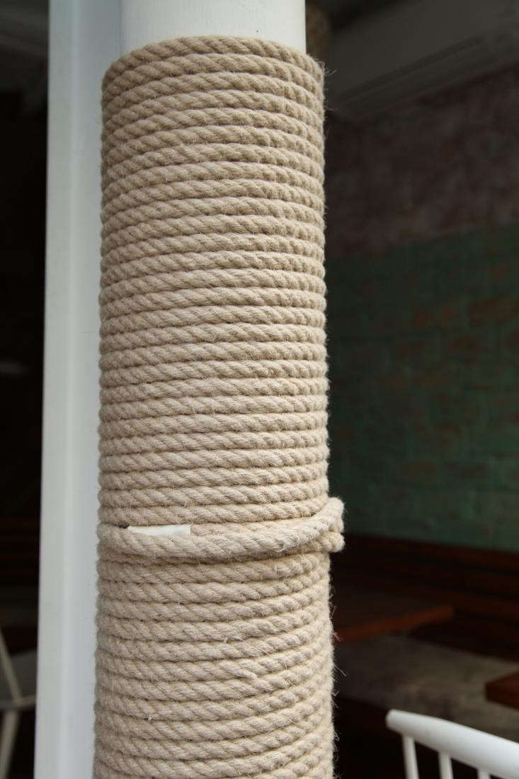 For a more reversible, more textured cover-up, wrap exposed pipes in sturdy rope, as seen inLe Mary Celeste: Coastal Cool in the Middle of the Marais. It&#8