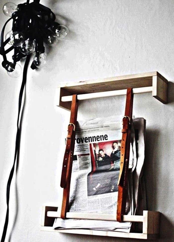 5 Favorites DIY Magazine Racks Made from Leather Straps portrait 7