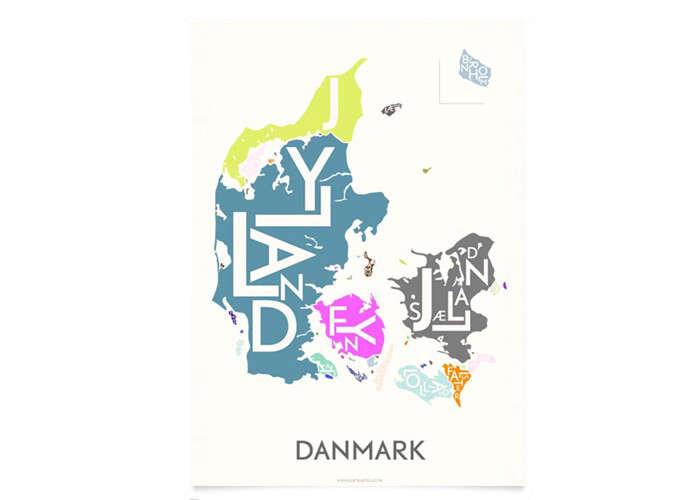 Danish Love Typographic City Posters  portrait 4