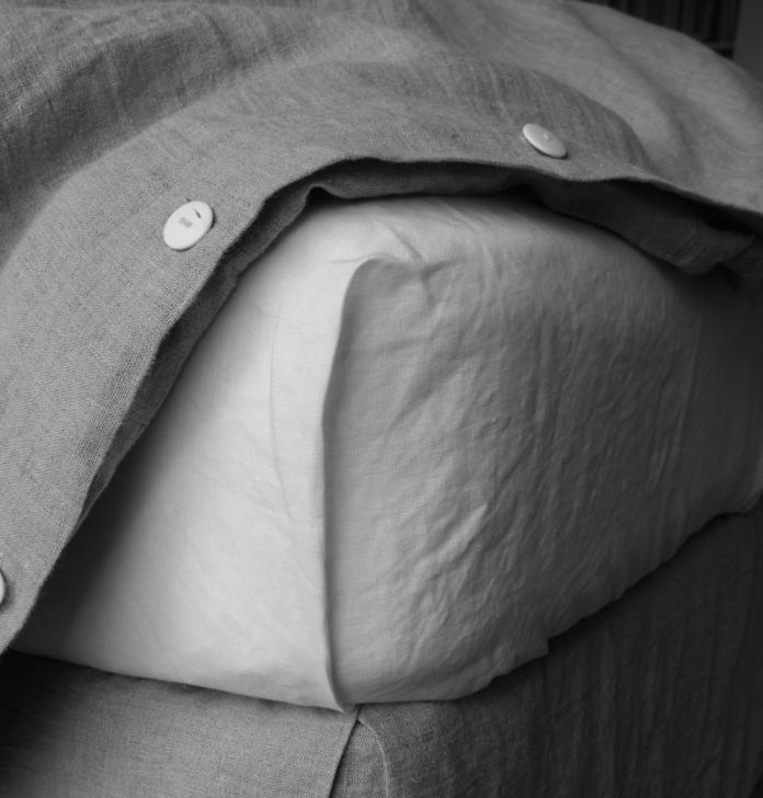 Linen sheet and duvet from Rough Linen Remodelista 1