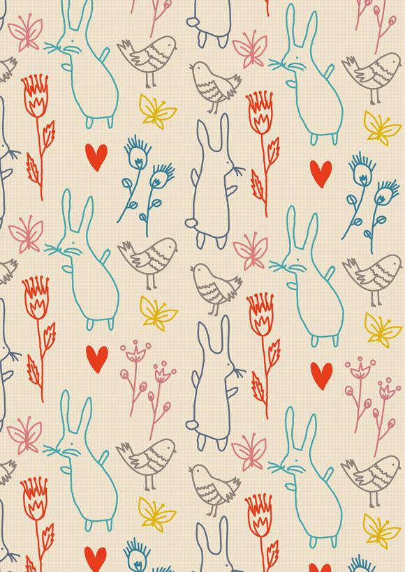 Little Cube little rabbits flowers