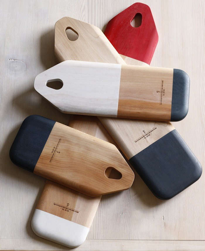 10 Easy Pieces Wooden Cutting Boards with Cutouts for Hanging portrait 11
