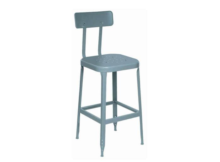 Lyon All Welded Steel Seat Stool Dove Gray