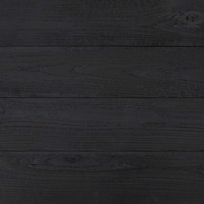 Charred cypress for use as siding, fencing, decking, and flooring. Photograph from reSawn Timber Co.