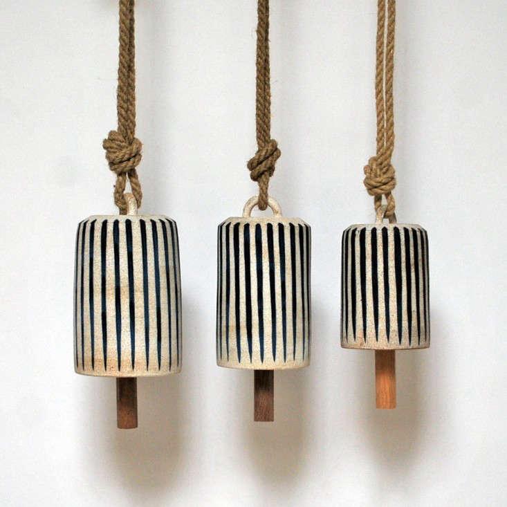 5 Favorites Bohemian Modern Ceramic Bells portrait 4
