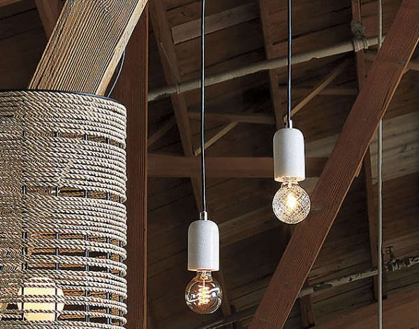Marble pendant lights from CB2