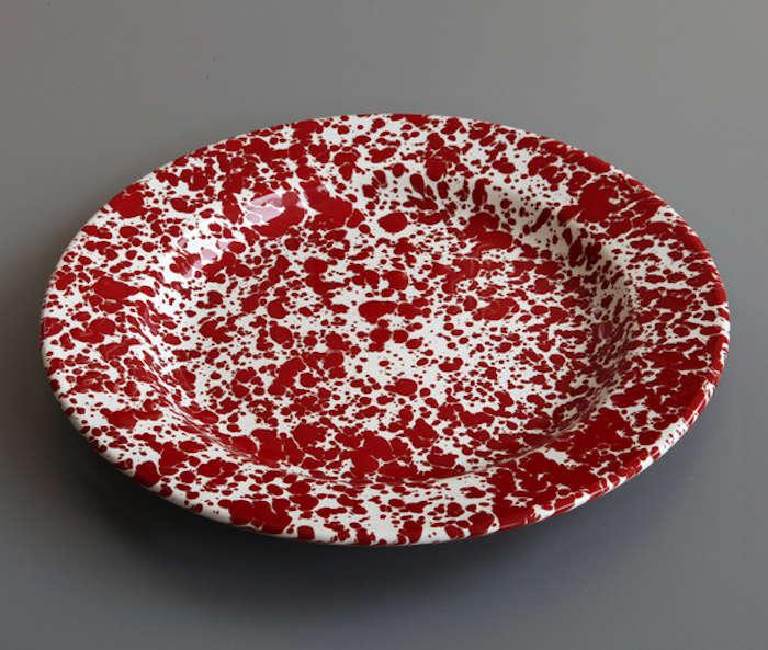 Marbled Enamel Plate