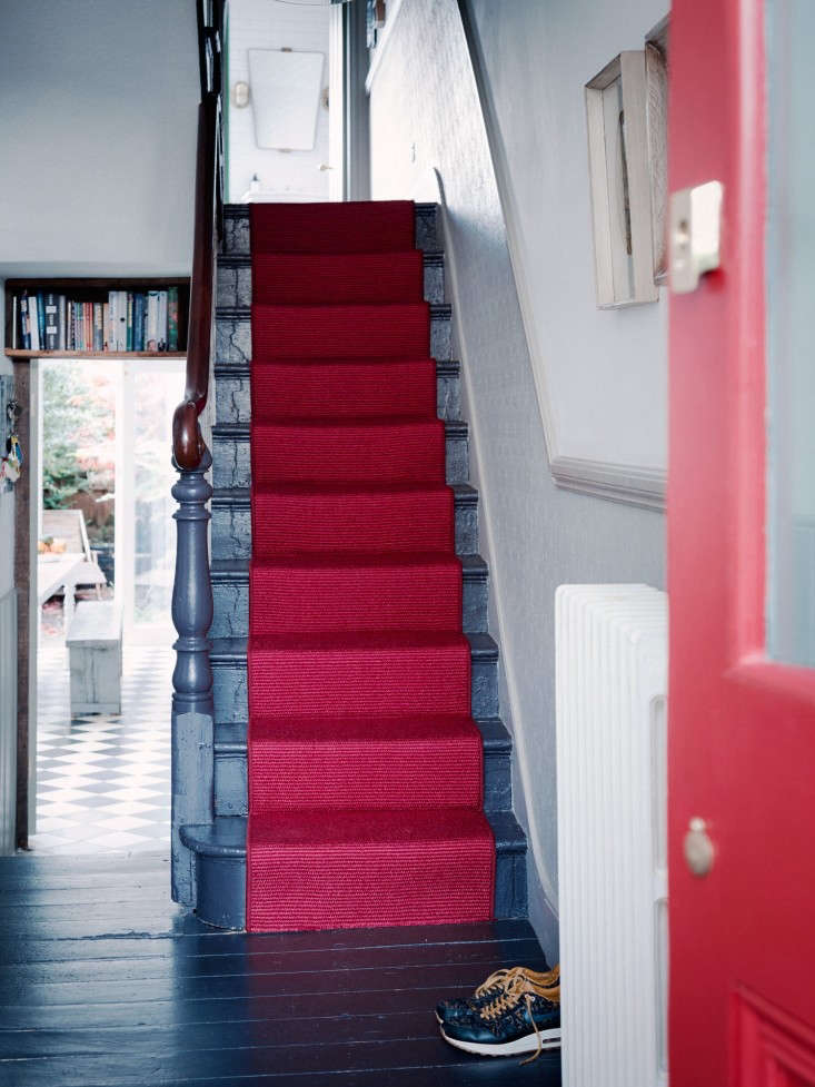 Remodeling 101 All About Stair Runners A dramatic option, as seen in A Sympathetic Renovation in Stoke Newington, London.