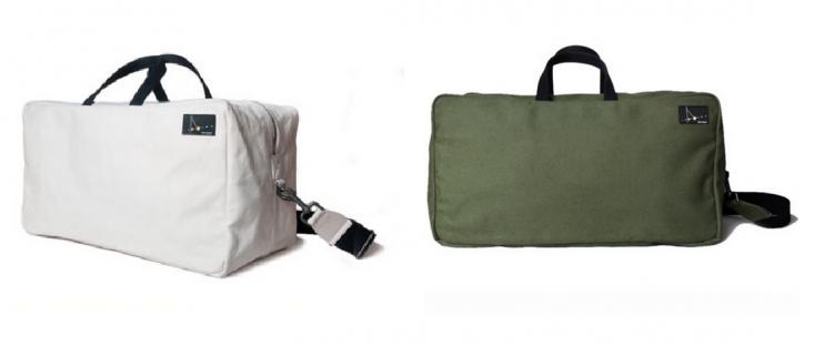 Matt Singer waxed canvas travel bags