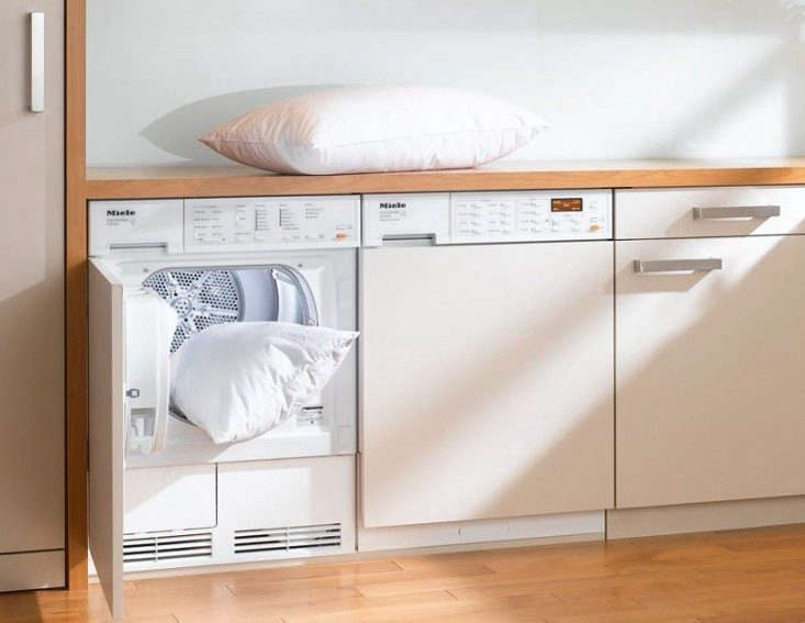 Pillows get a thorough cleaning in aMiele Decor -Inch Washer (W3039i).