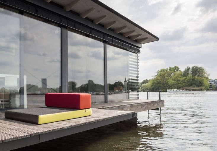 Modern Houseboat Berlin dock
