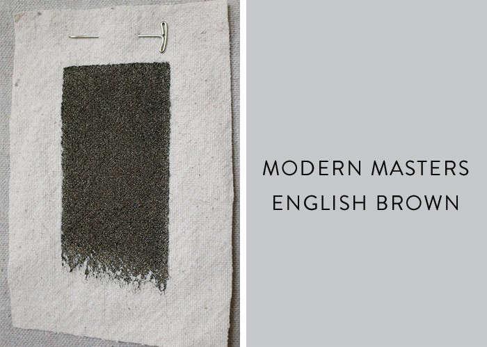 Modern masters metallic paint in English Brown Remodelista