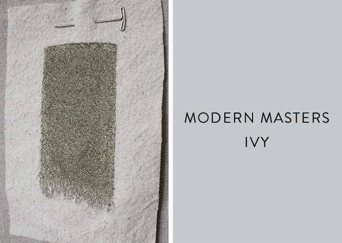 Modern masters metallic paint in Ivy Remodelista