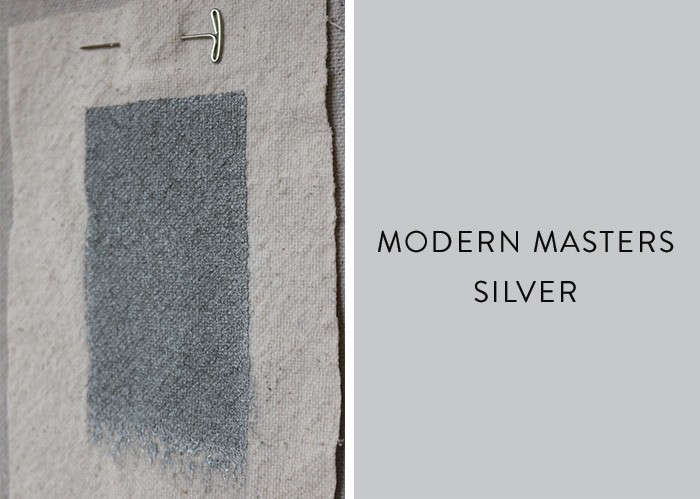 Modern masters metallic paint in Silver Remodelista