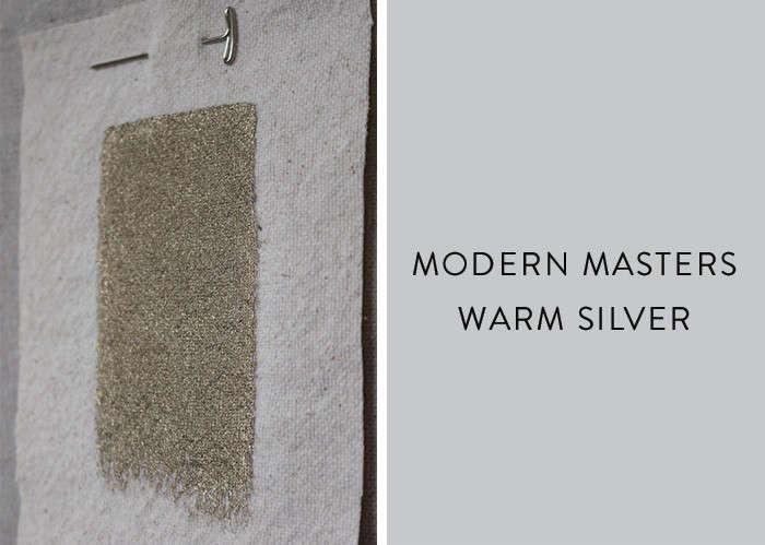 Modern masters metallic paint in Warm Silver Remodelista