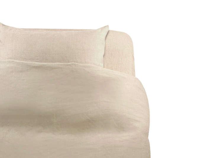 Muji Linen Calico Duvet Cover Ecru Remodelista