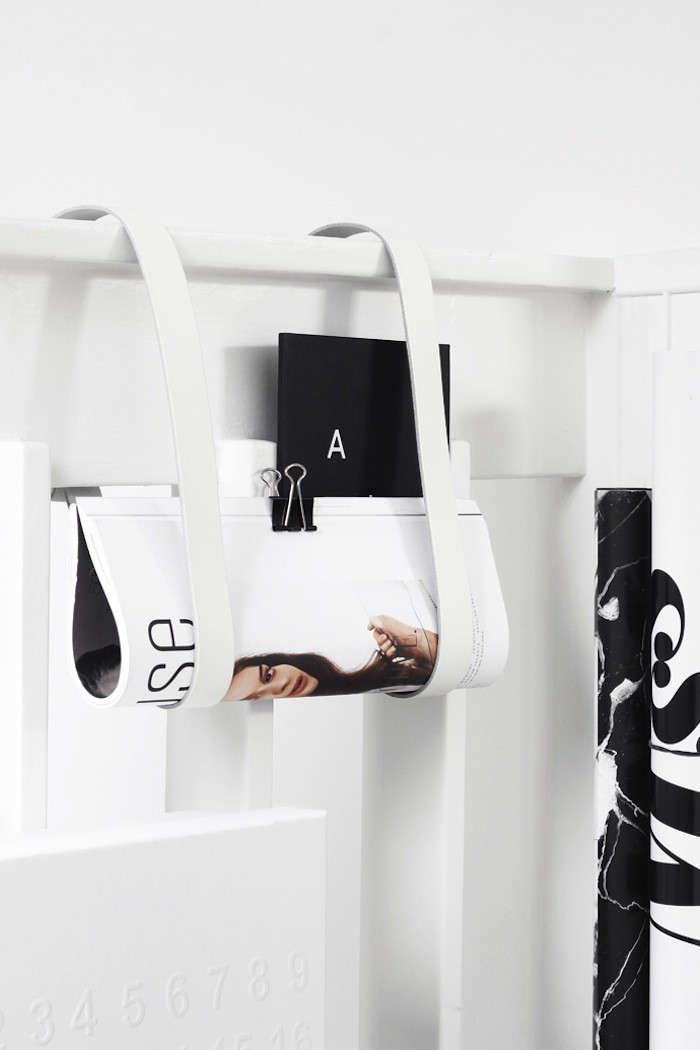 5 Favorites DIY Magazine Racks Made from Leather Straps portrait 5
