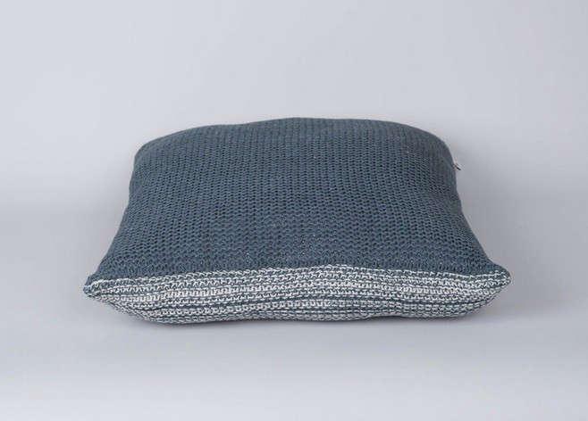 Native & co denim color cushion Remodelista