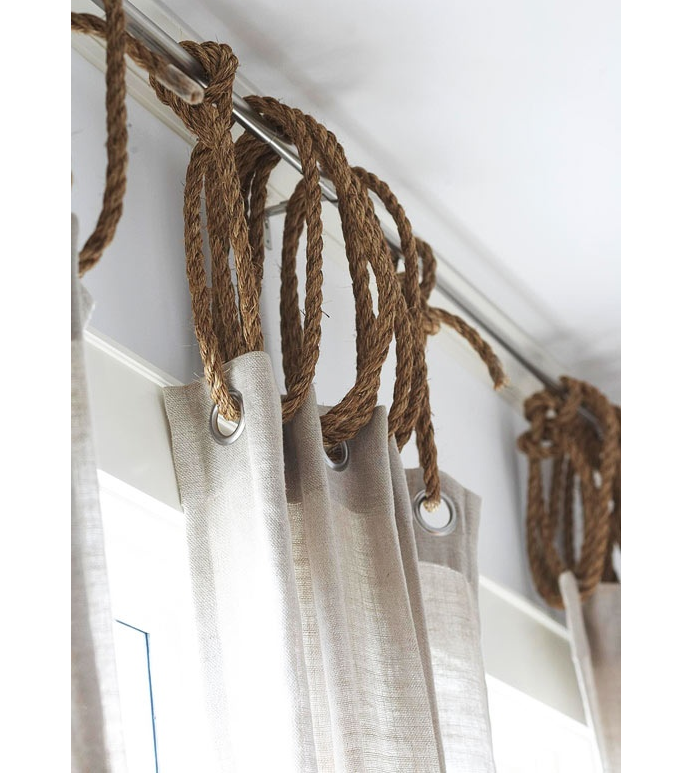 Diy Rope As Curtain Ring Remodelista