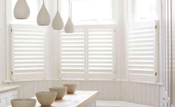 Cafe shutters are a good solution for rooms that don&#8