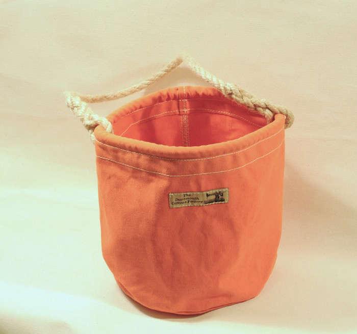Marine Canvas Water Buckets as Bathroom Storage portrait 6
