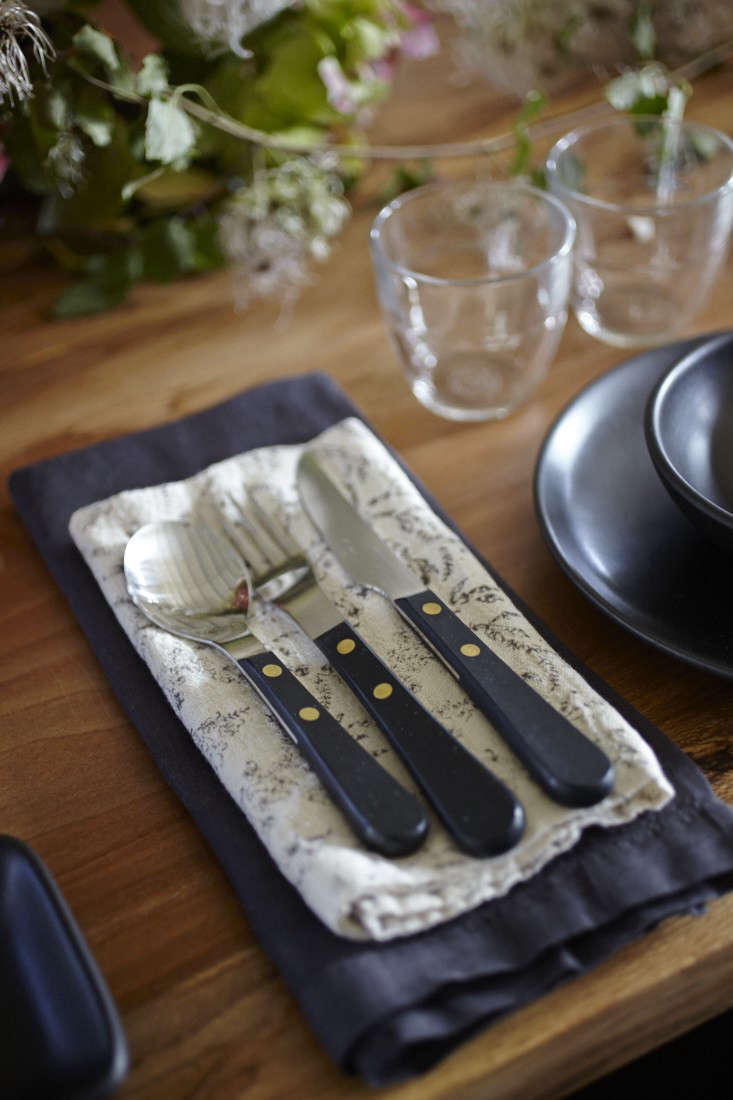 Parkside Holiday Table David Mellor flatware photography Julia Spiess Remodelista