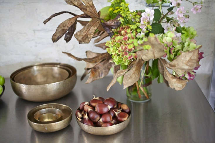Parkside Holiday Table chestnuts photography Julia Spiess Remodelista