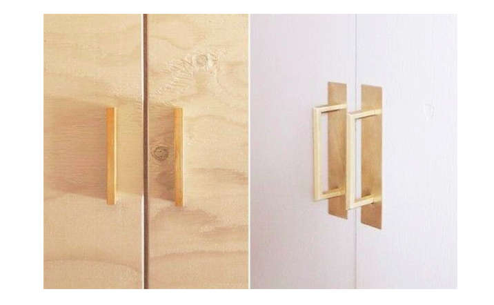 la Carte Kitchen Components Tiny Apartment Edition R Toolbox Brass Cabinet Pulls