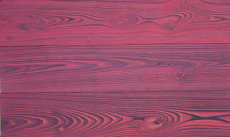 Playing with Fire Shou Sugi Ban Torched Lumber in Bright Colors portrait 10