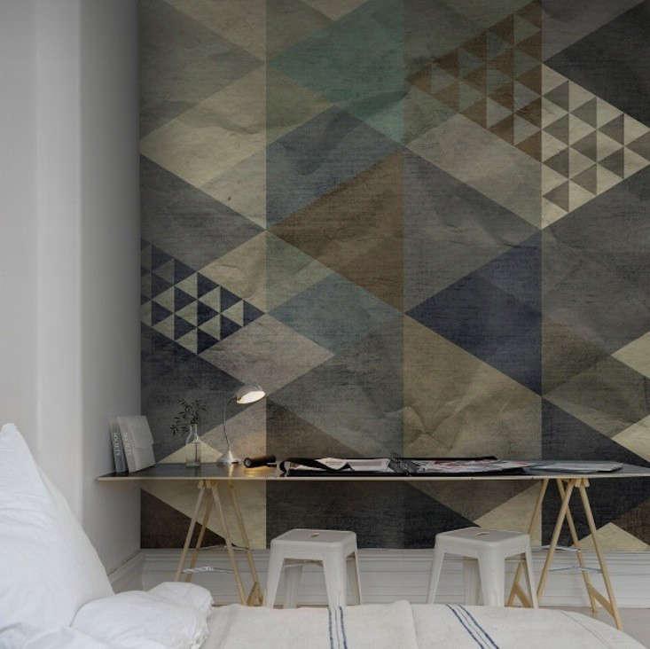 Rebel Walls Wallpaper Art Quadrangle Blue 02 Remodelista