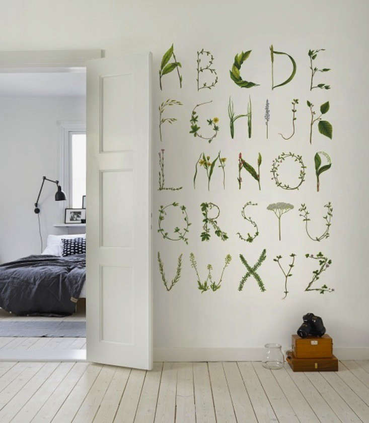 Rebel Walls Wallpaper Greenhouse abc for the spelling bee Remodelista