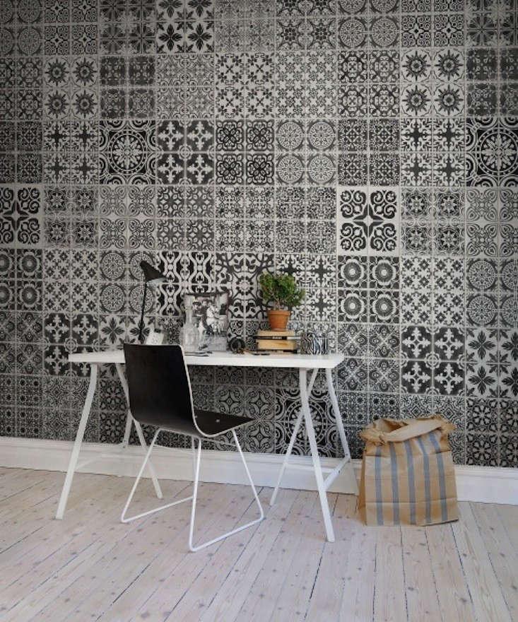Rebel Walls Wallpaper Marrakech Black Remodelista