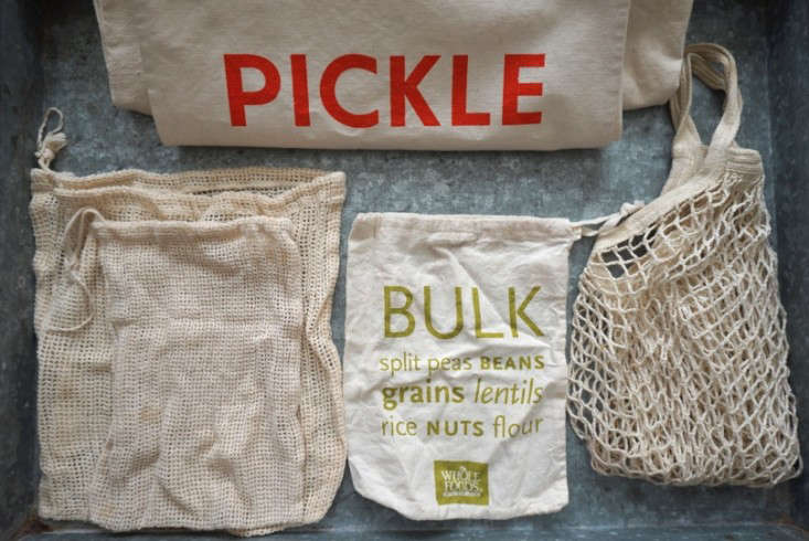 Recycled bags for zero waste home challenge remodelista