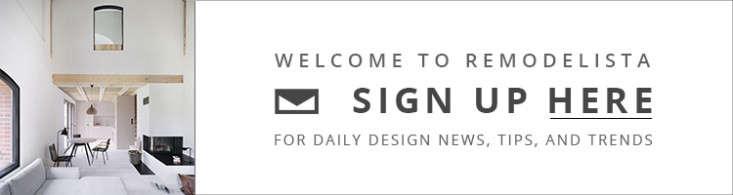 Remodelista newsletter signup banner