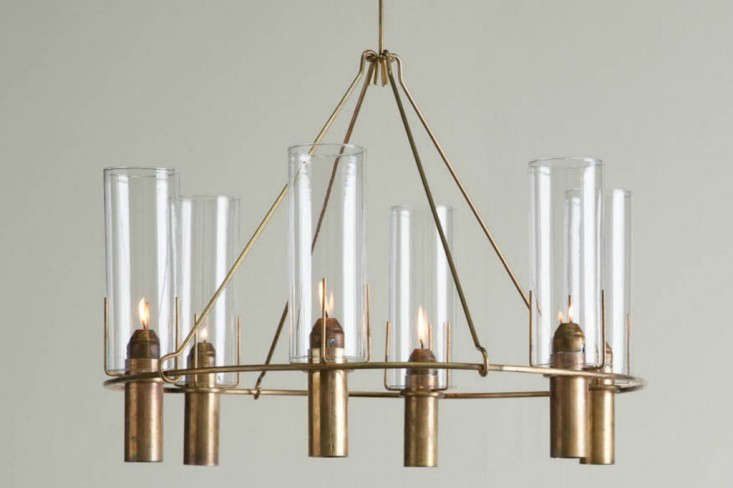 Second Coming 5 FamilyOwned Midcentury Design Companies Revived Oliver Chandelier from Robert Long Lighting, a revived sixties company | Remodelista