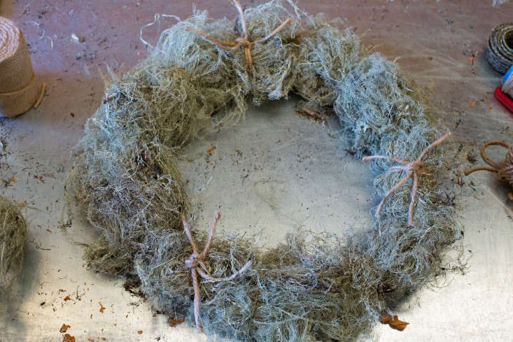 Russian River Flower School Holiday Wreath on table