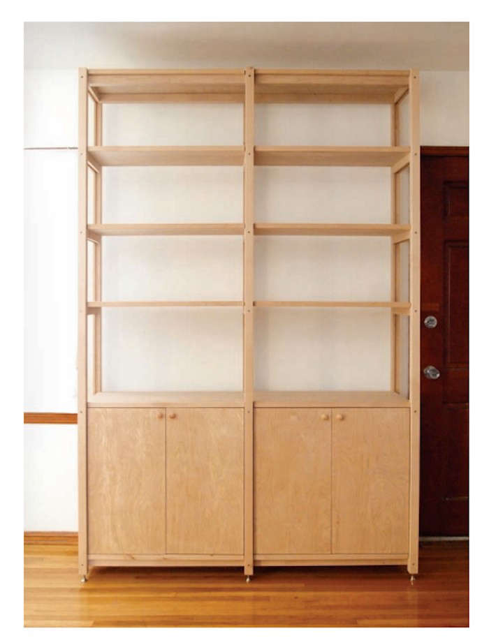 HighLow Wooden Bookcase with Cabinets portrait 3