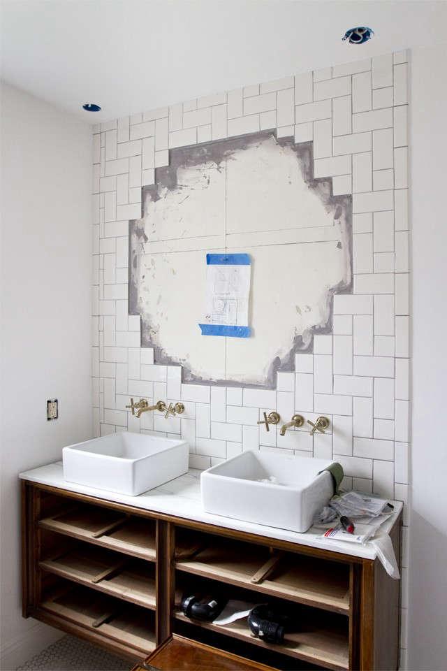 Sarah Sherman Samuel Smitten Studio bathroom remodel  n progress Remodelista 1
