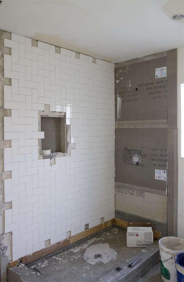 Sarah Sherman Samuel Smitten Studio bathroom remodel shower tile in progress Remodelista 3