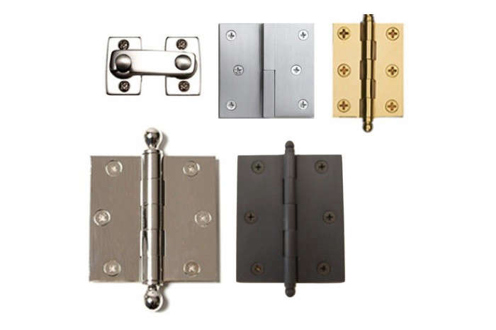 High-quality shutter hinges are a must to prevent shutter sag and the resulting poor window fit. Photograph courtesy of Back Bay Shutter Co.