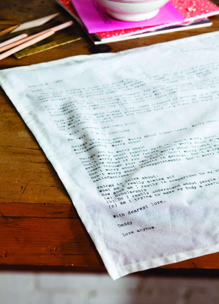 Sir Madam Love Letter napkin 2 Remodelista