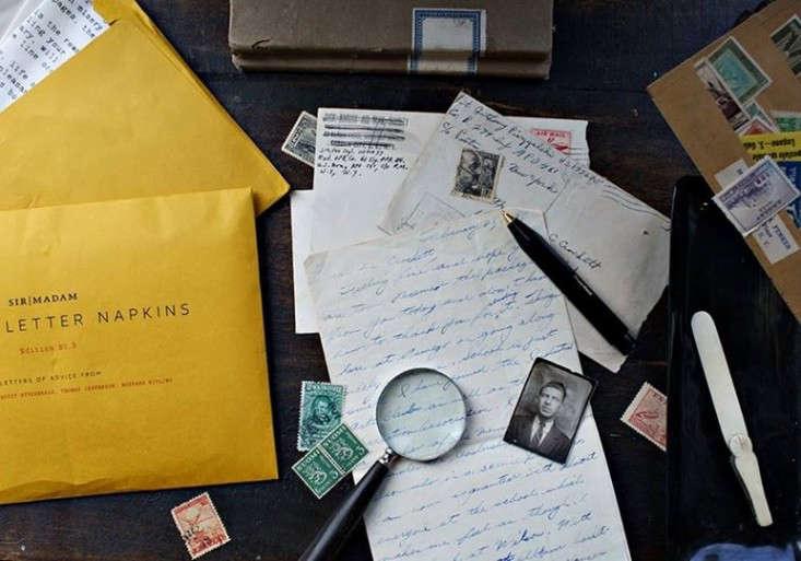 Sir Madam Love Letter napkins Remodelista 1